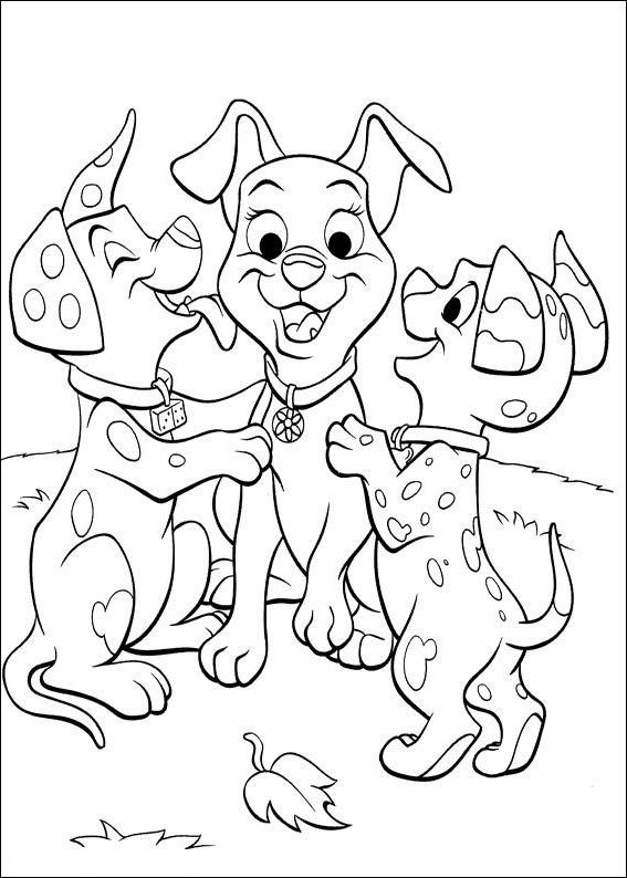 Disegno 21 di cani da stampare e colorare