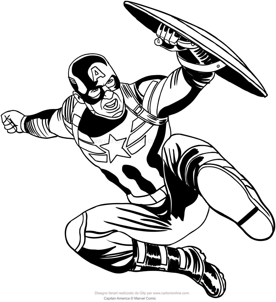 Disegno Di Capitan America Da Colorare