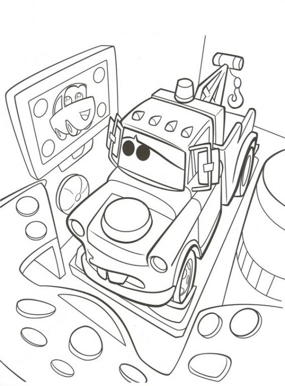 Disegno Di Cars 2 Con Cricchetto Da Colorare