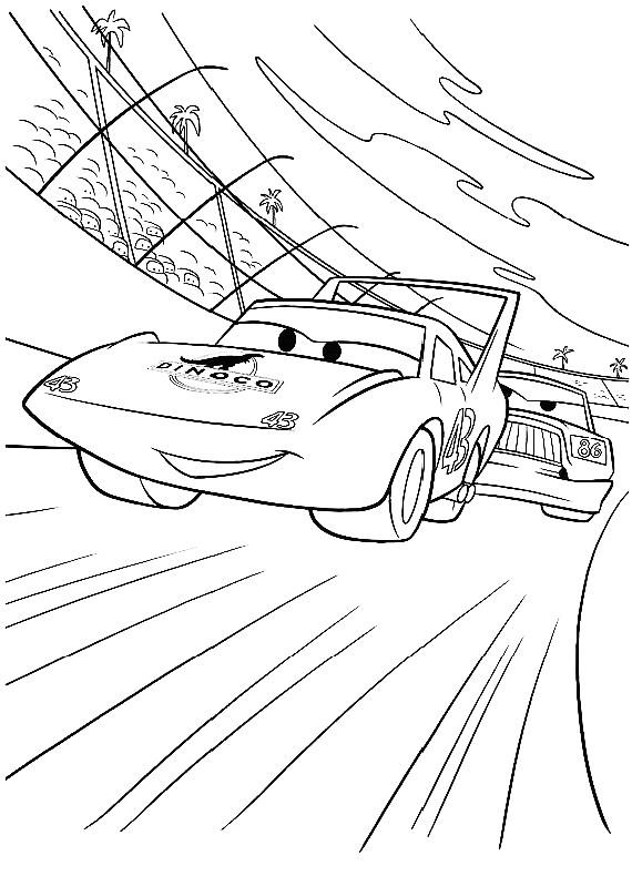 Disegno Di Cars Con Strip The King Weathers L Auto Da Corsa Da