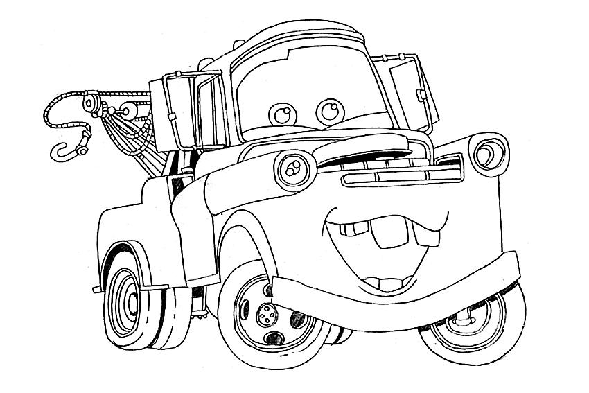 Disegno di cars con cricchetto da colorare for Disegno di cars 2 da colorare