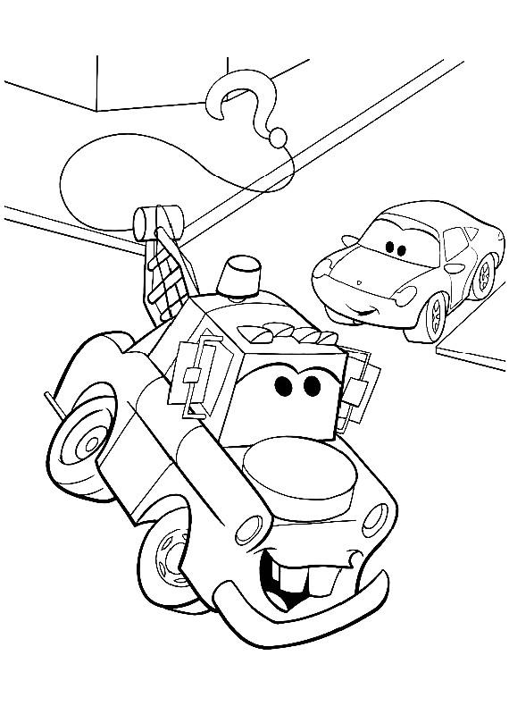 Disegno di cars con cricchetto che utilizza il gancio for Disegno di cars 2 da colorare