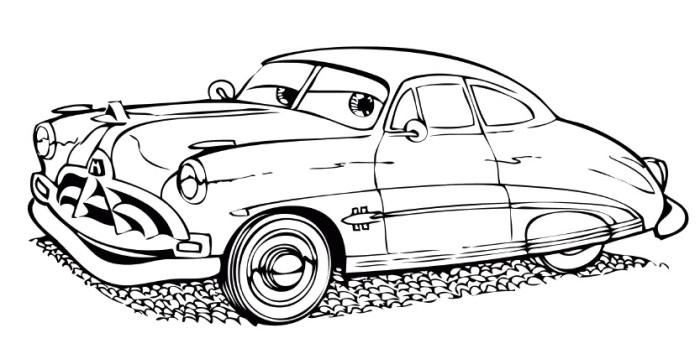 Disegno Di Cars Con Doc Hudson Da Colorare