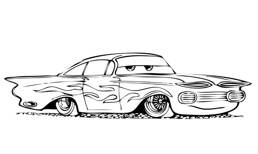 Disegno di cars con ramon da colorare for Disegni da stampare e colorare cars