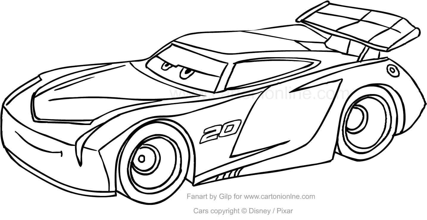 Disegno di jackson storm di cars da colorare for Disegni da stampare e colorare cars