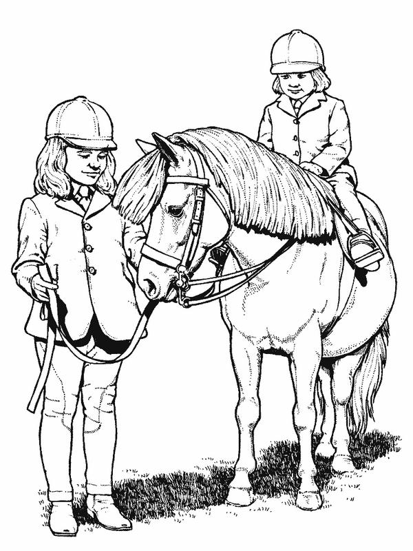 Disegno 22 di cavalli da stampare e colorare