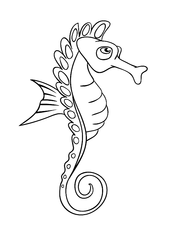 Disegno 8 di Cavallucci Marini da stampare e colorare