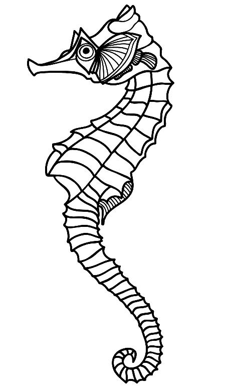 Disegno 22 di Cavallucci Marini da stampare e colorare