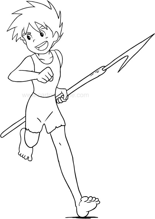 Colorear Conan el niño del futuro para imprimir y colorear