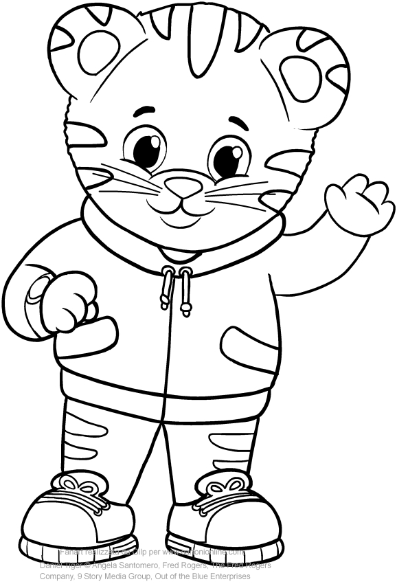 Disegno di daniel tiger da colorare for Daniel tiger coloring pages