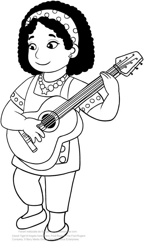 Dibujo de Erriet el maestro de Daniel Tiger para imprimir y colorear