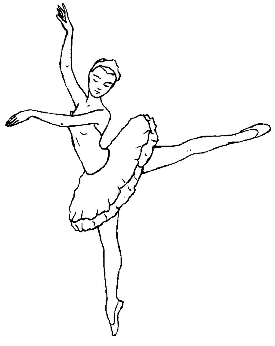 Desenho 1 de Dançar para imprimir e colorir