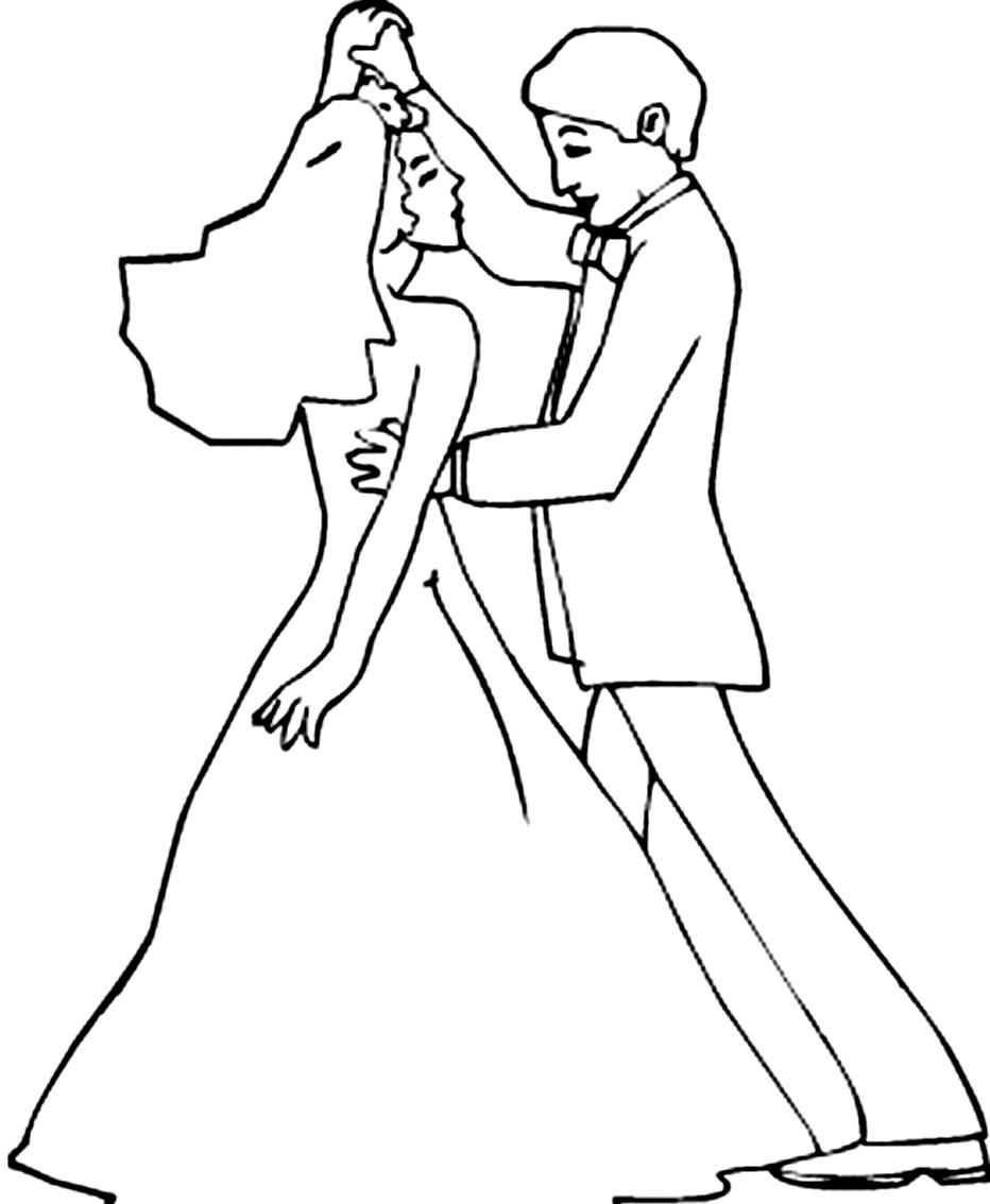 Desenho 5 de Dançar para imprimir e colorir