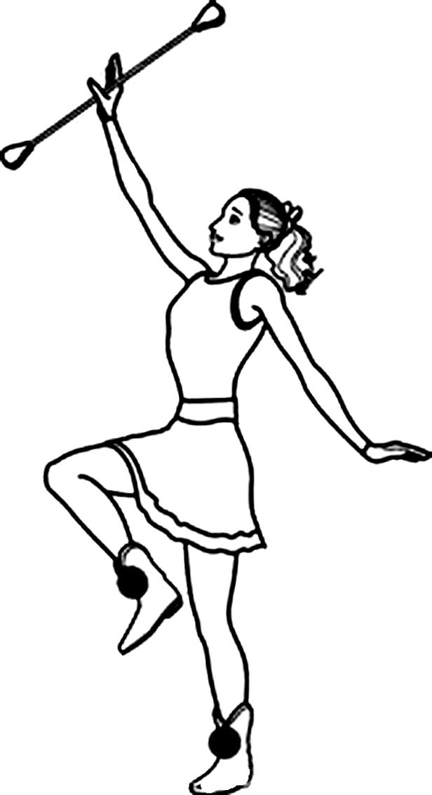 Desenho 6 de Dançar para imprimir e colorir
