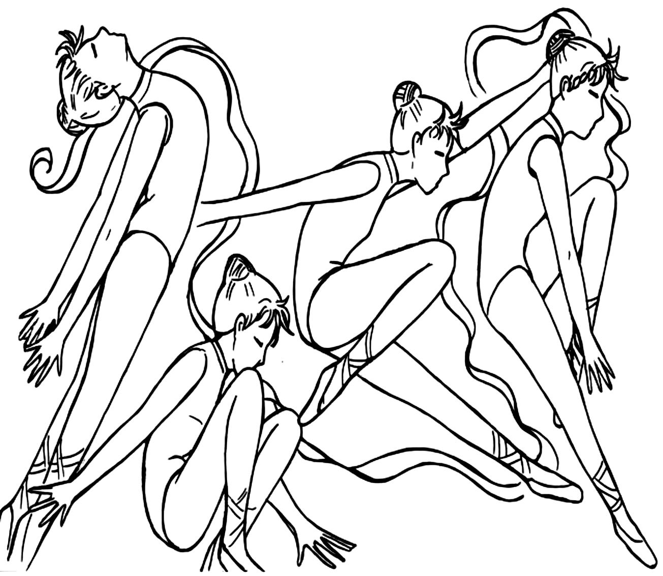 Desenho 8 de Dançar para imprimir e colorir