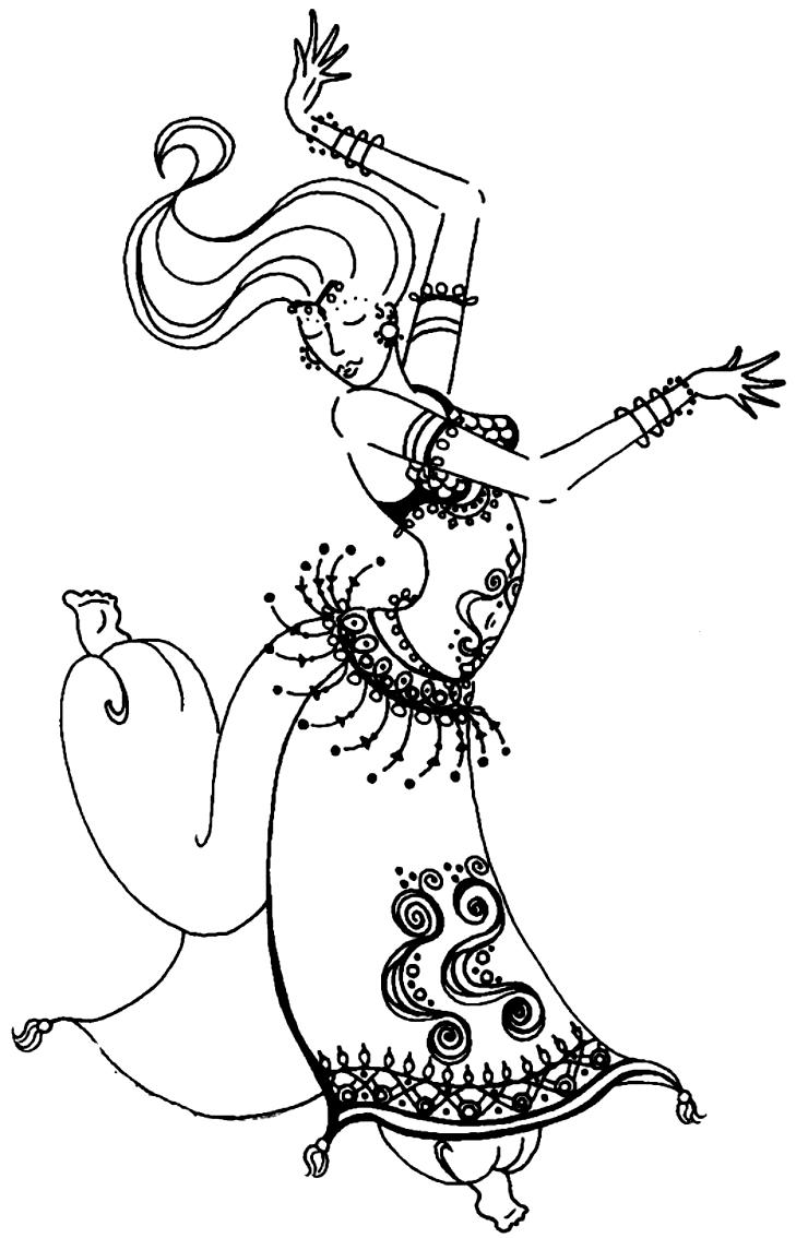 Desenho 13 de Dançar para imprimir e colorir