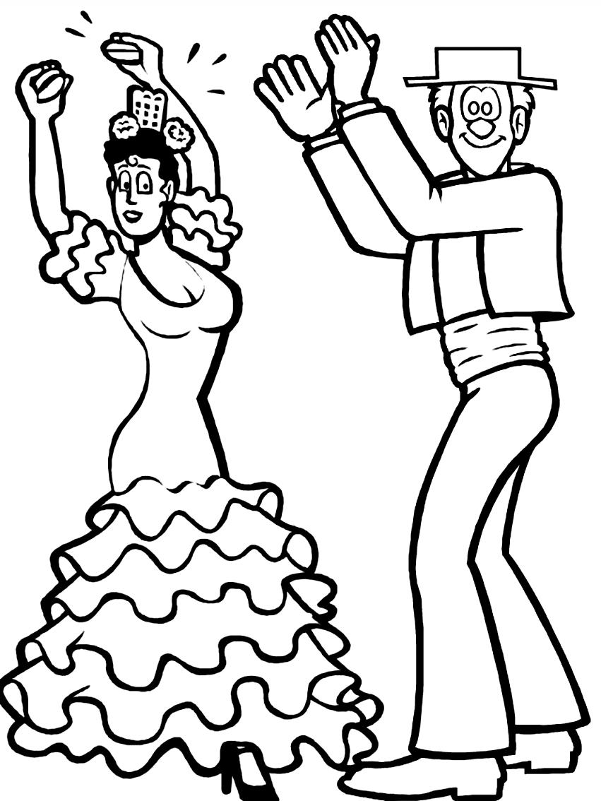 Desenho 17 de Dançar para imprimir e colorir