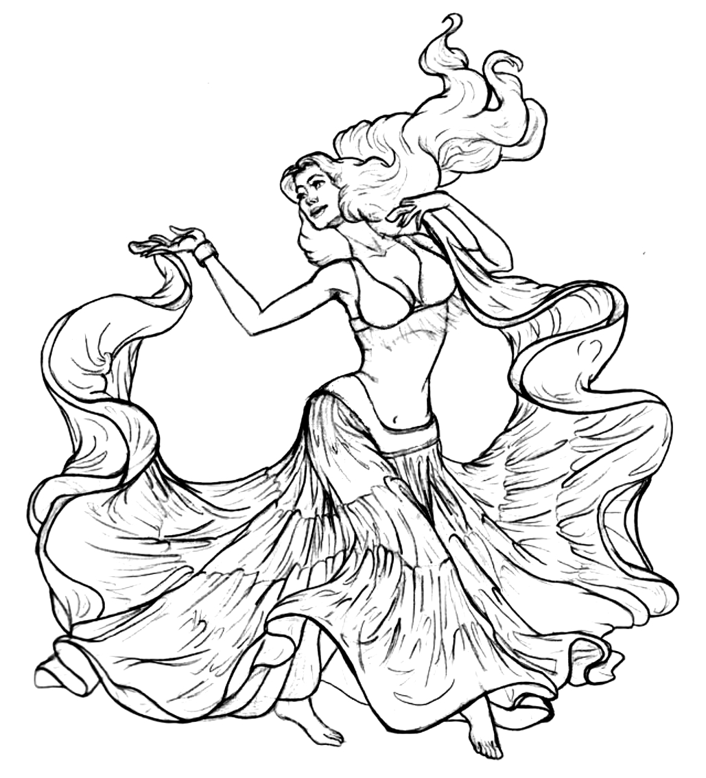 Desenho 18 de Dançar para imprimir e colorir