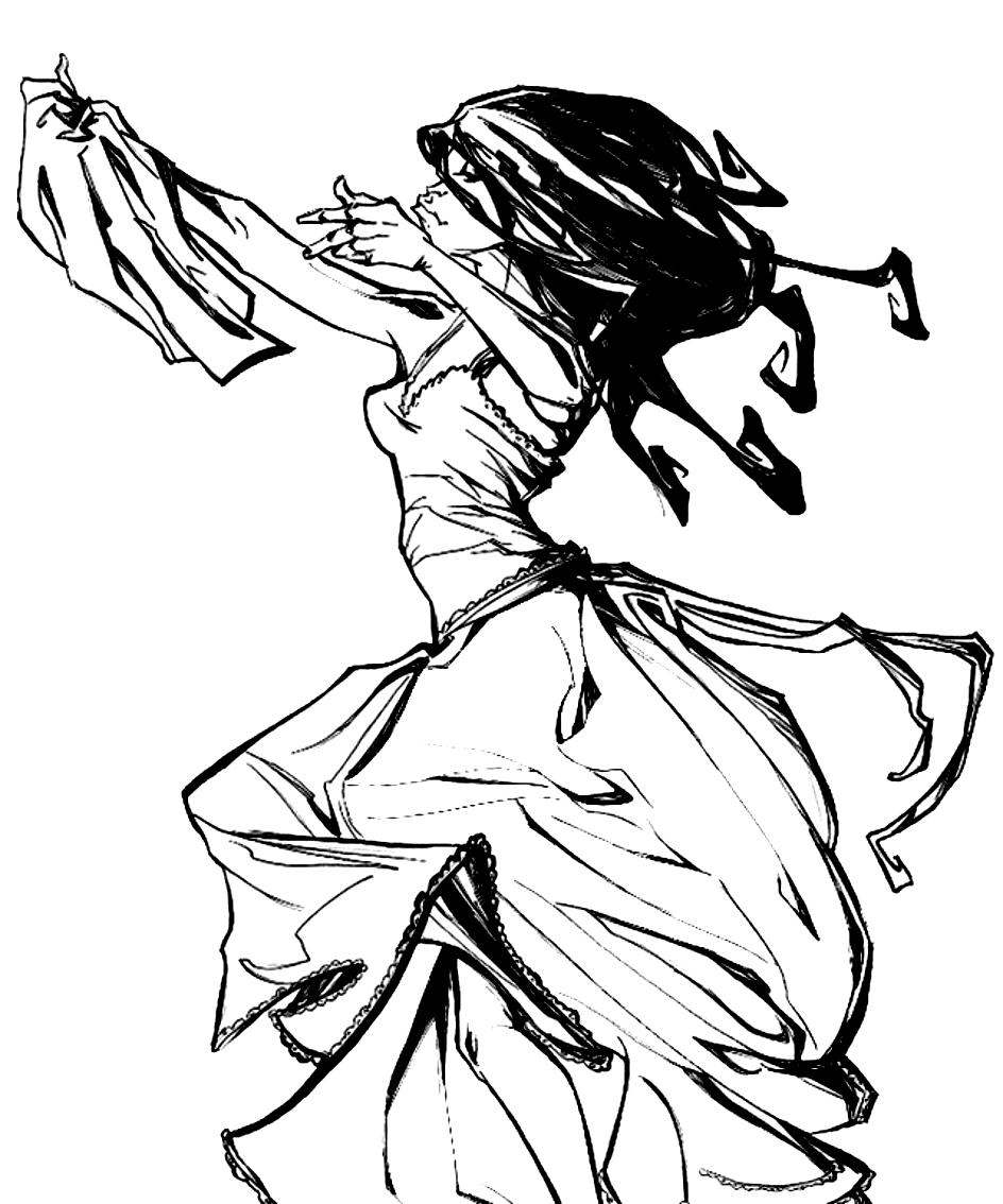 Desenho 20 de Dançar para imprimir e colorir