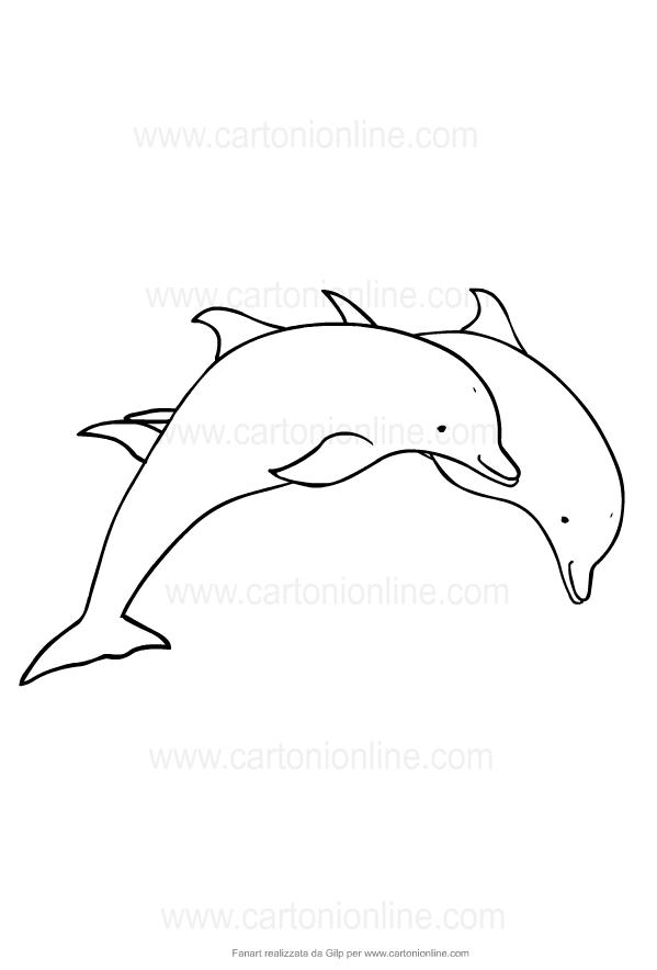 Disegno Di Delfini Da Colorare