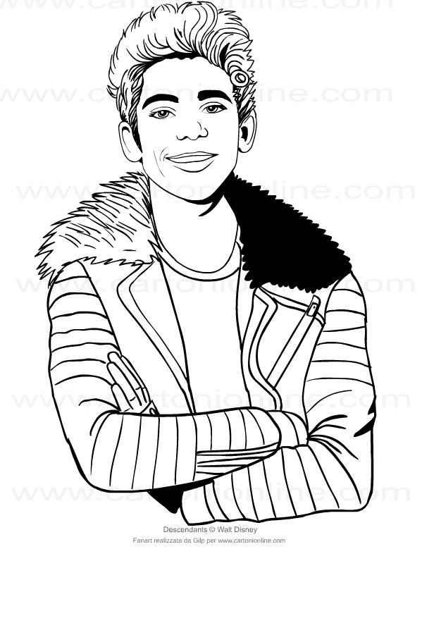 Disegno Di Carlos Di Descendants Da Colorare