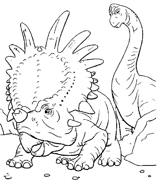 ausmalbilder 8 von dinosaurier