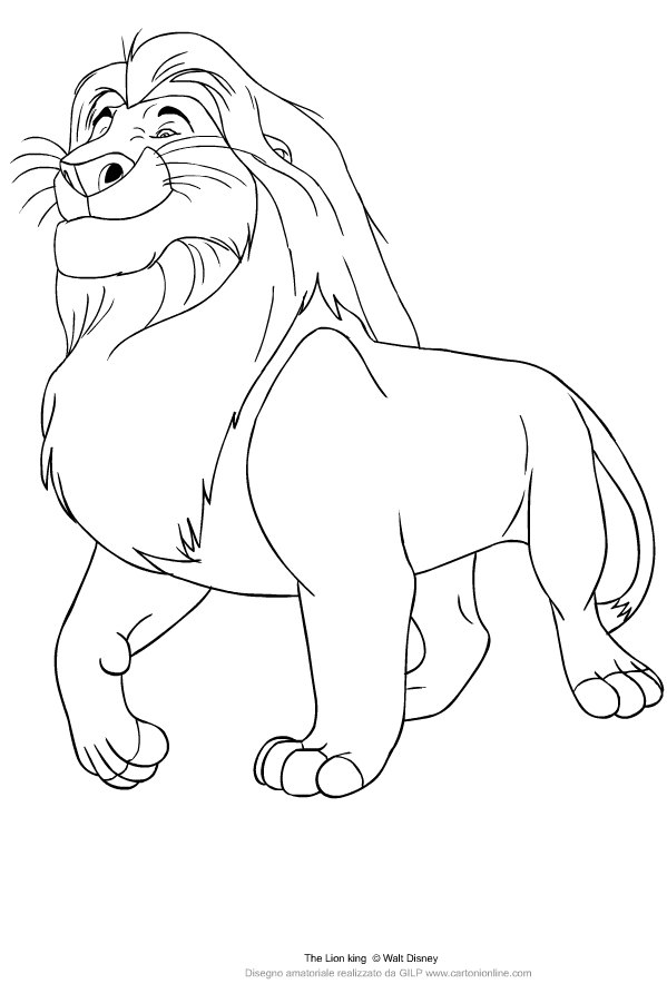 Mufasa From The Lion King Coloring Page