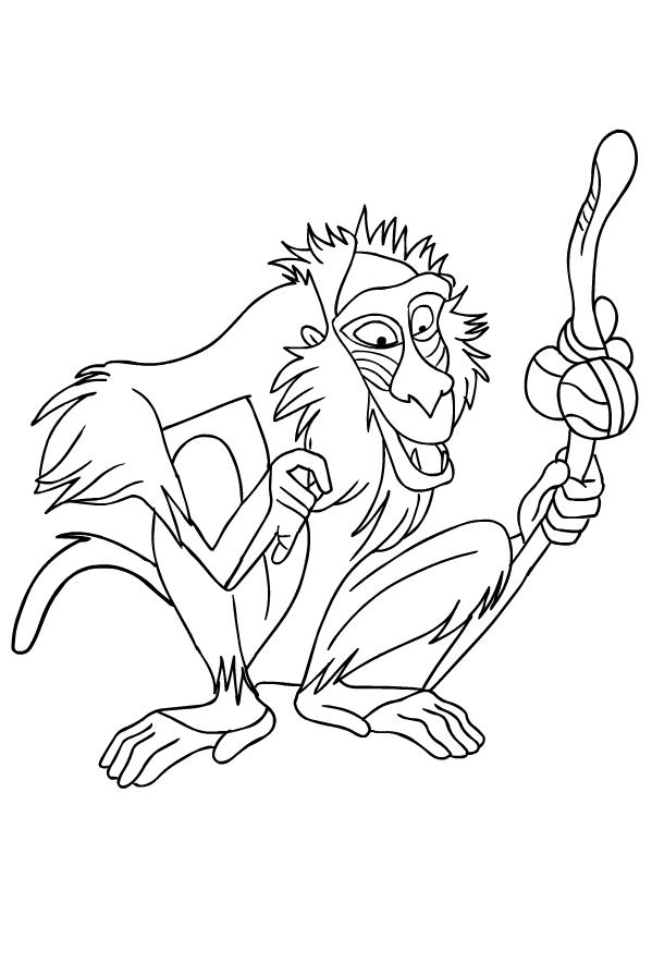 Desenho De Rafiki De O Rei Leao Para Colorir