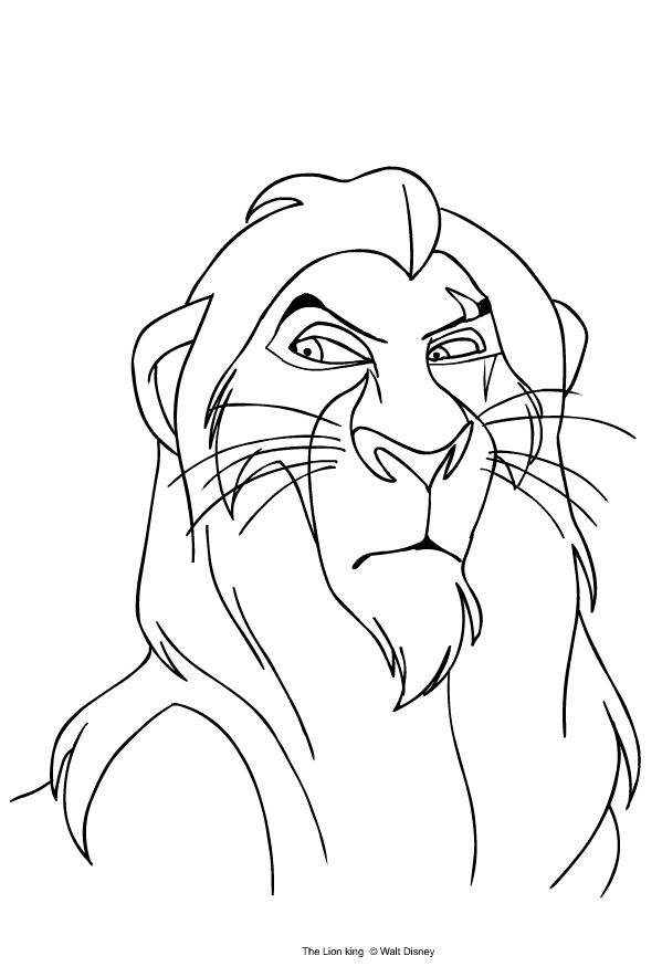 Scar From The Lion King Coloring Page