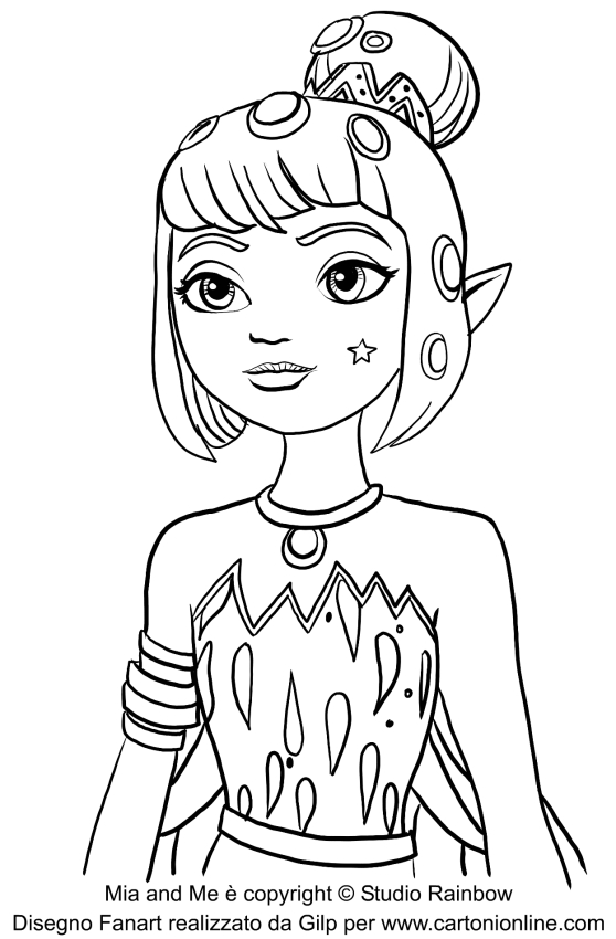 mia and me coloring pages - mia and me malina coloring pages coloring pages