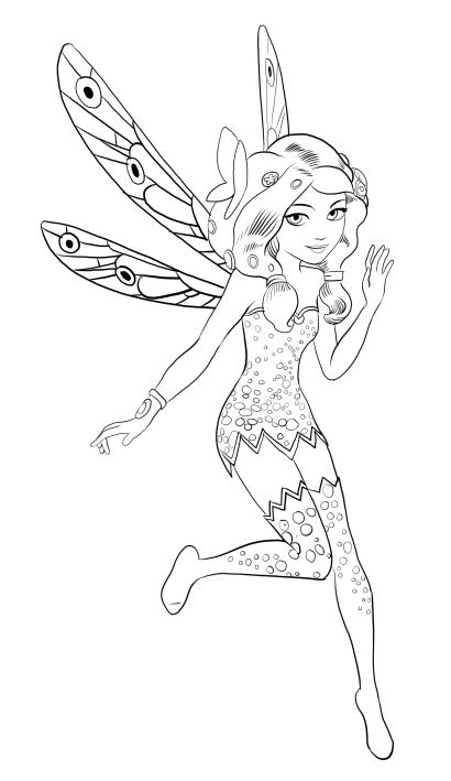 Disegno Da Colorare Di Mia Con Ali Di Farfalla