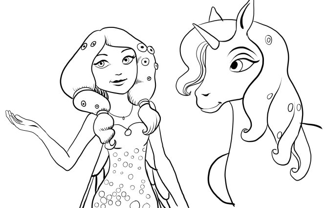 mia and me coloring pages - photo#1