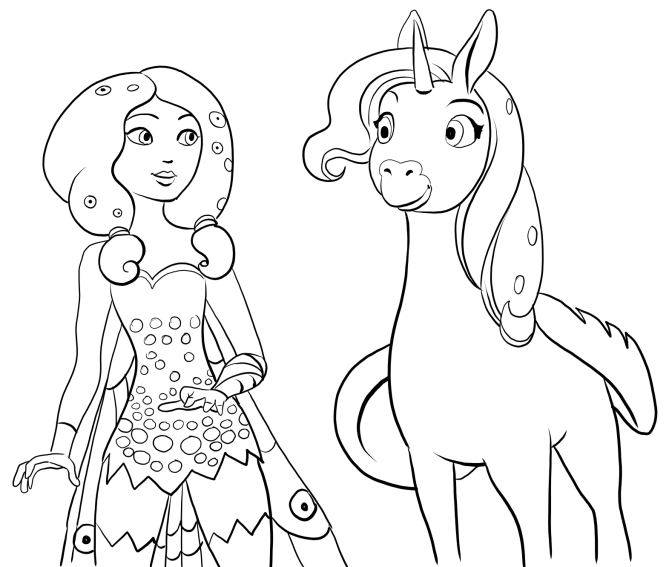 mia and me coloring pages - photo#15