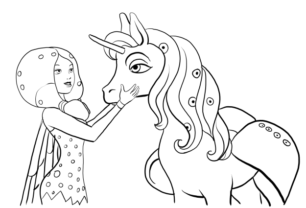 mia and me coloring pages - photo#25