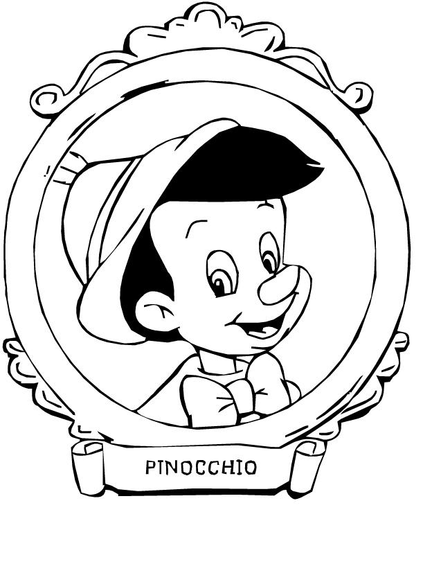 Disegno Di Pinocchio In Primo Piano