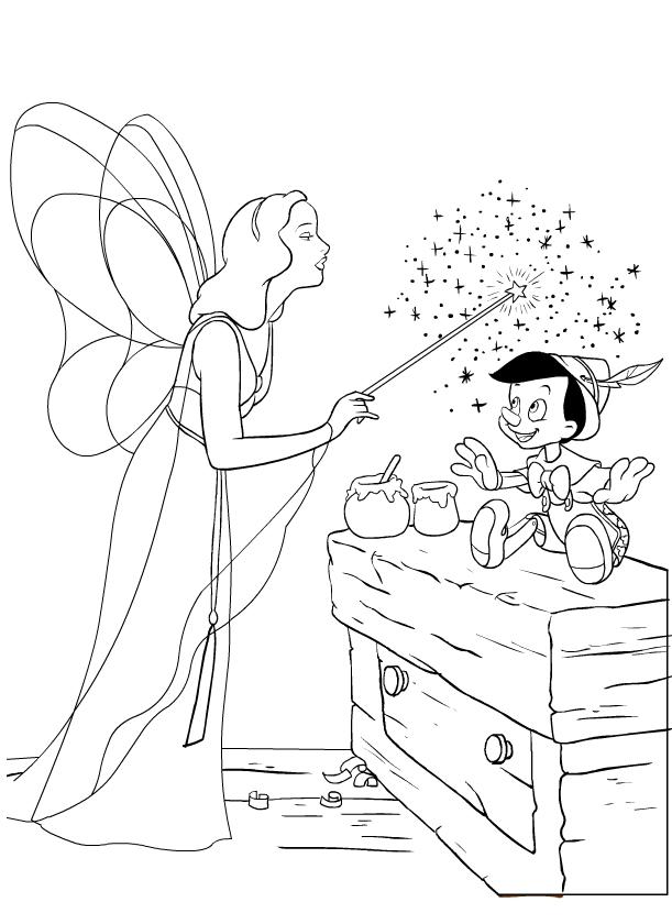 Disegno Di Pinocchio E La Fata