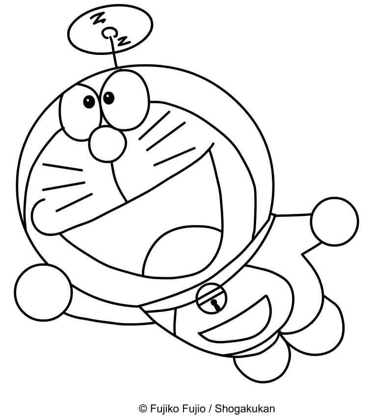 Disegno di doraemon che vola con l 39 elica sopra la testa da for Lepre immagini da stampare