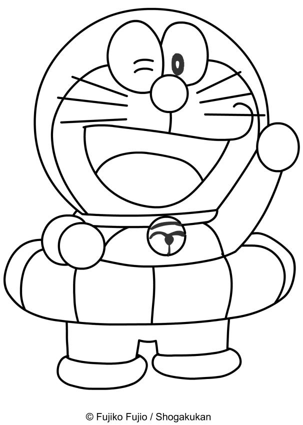 Disegno di doraemon con il salvagente da colorare for Disegni da colorare doraemon