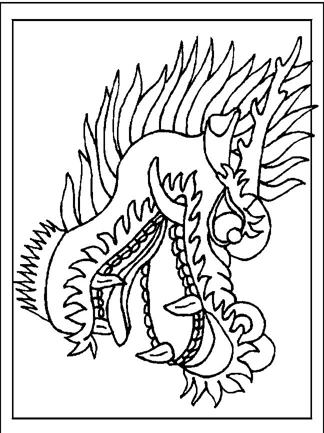 Desenho 4 De Dragoes Para Colorir