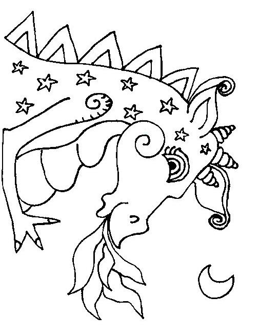 Desenho 16 De Dragoes Para Colorir