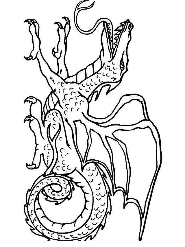 Desenho 24 De Dragoes Para Colorir