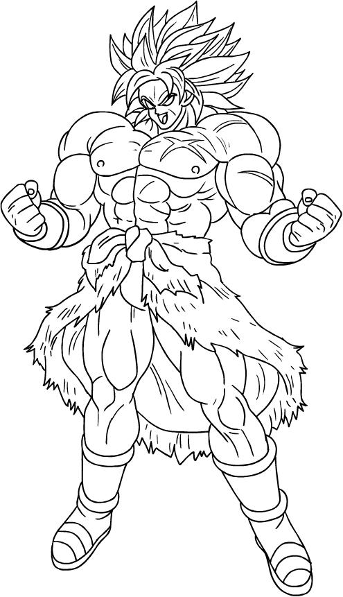 Disegno Di Broly Super Saiyan Di Dragon Ball Super Da Colorare