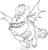Disegni Di Dreamworks Dragons Da Colorare