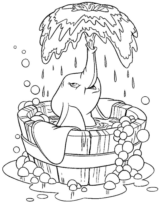 Coloriage 2 de Dumbo à imprimer et colorier