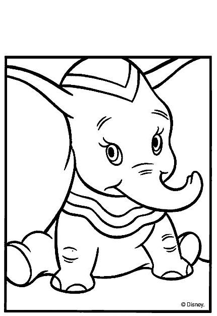 Coloriage 12 de Dumbo à imprimer et colorier