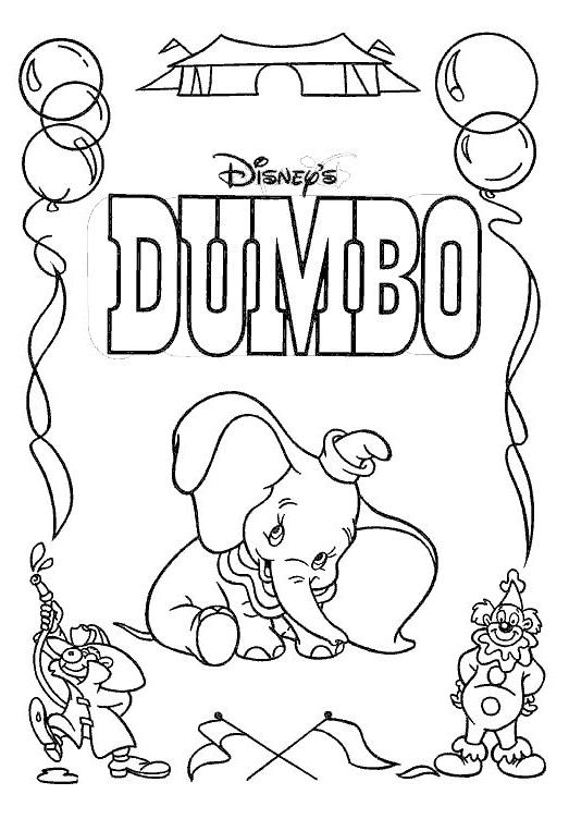 Coloriage 15 de Dumbo à imprimer et colorier