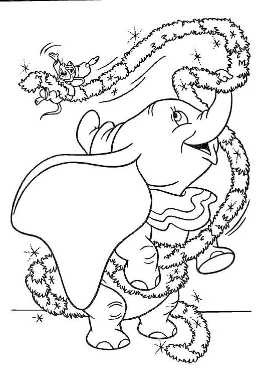 Coloriage 20 de Dumbo à imprimer et colorier