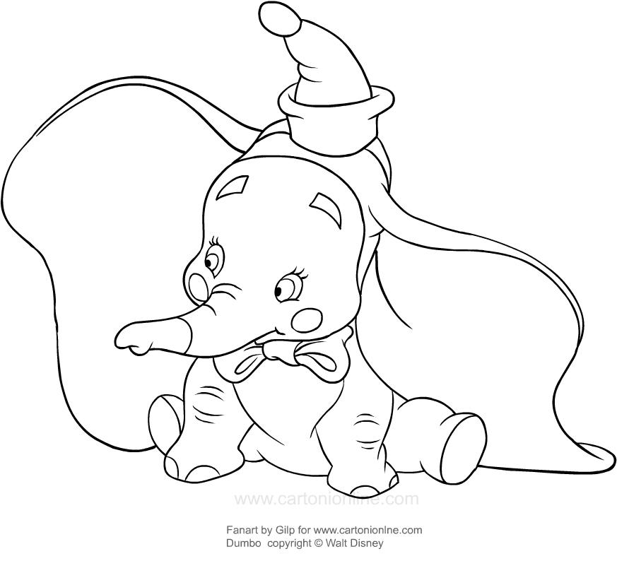 Disegno Di Dumbo Pagliaccio Da Colorare