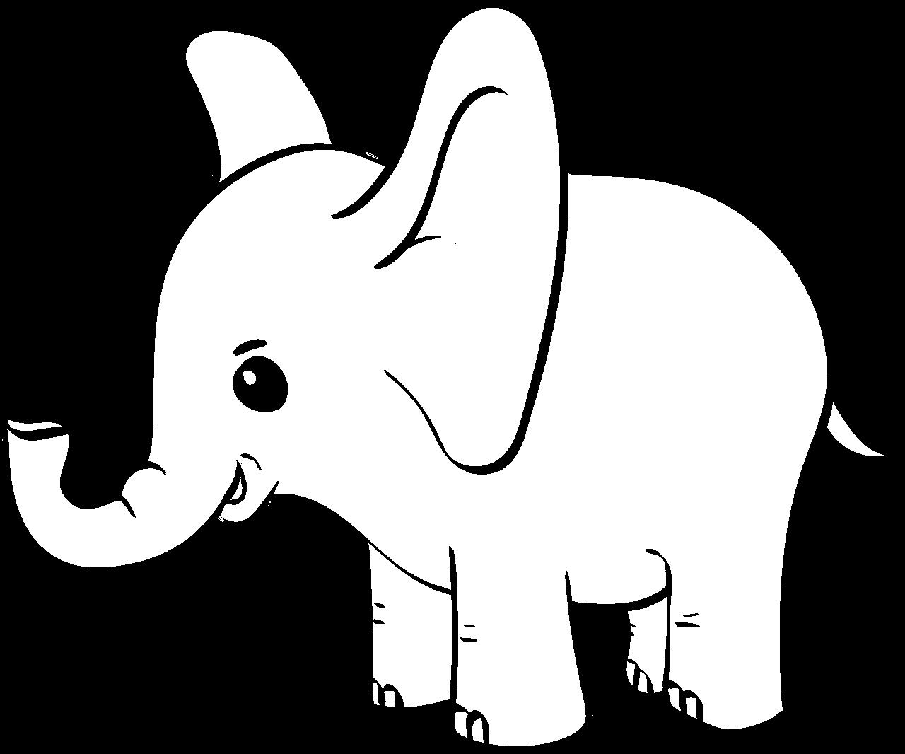 Kawaii Stil Elefant Malvorlagen Fur Kinder