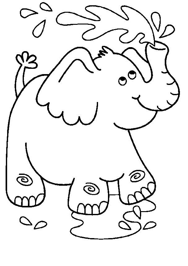 Desenho 5 De Elefantes Para Colorir